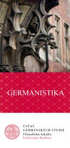 Leták Germanistika Praha